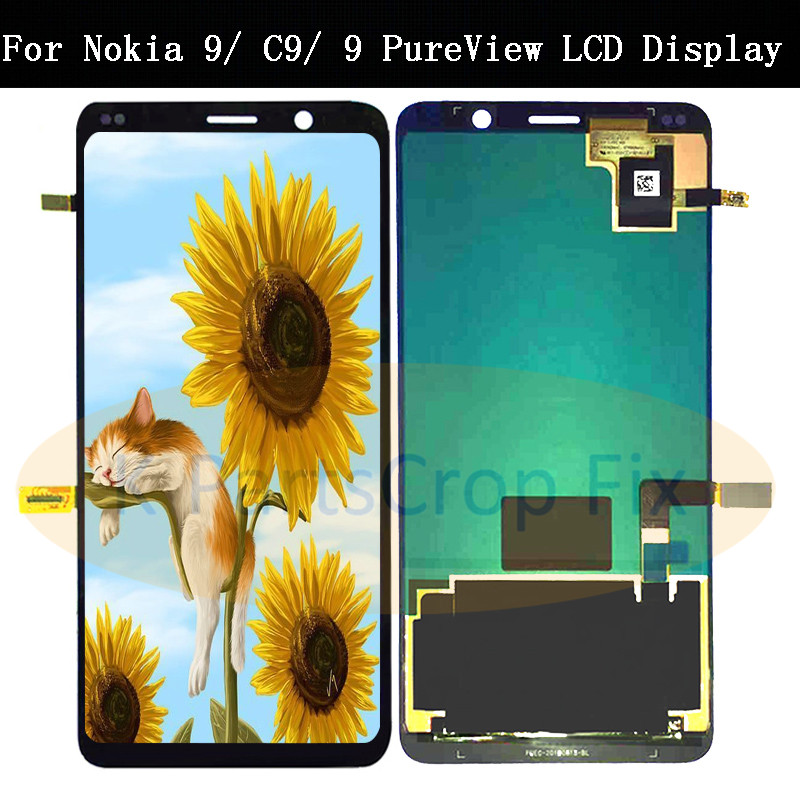 AMOLED For Nokia 9 LCD Display Touch Screen Digitizer TA 1004 TA 1005 For Nokia9 Nokia