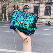 New Style famous brand Minimalist Crossbody Bag women Shoulderbag messenger Sequins Chain Puzzle bags for women