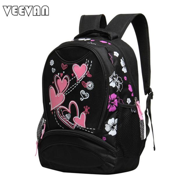 Veevan 2017 mochilas escolares para las niñas diseñador de la marca de impresión mujeres mochila bolso de hombro barato al por mayor niños niños mochilas de moda