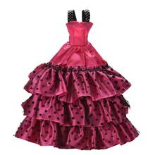 Wedding Dress Leisure Skirt Party Gown For Doll Girl Best Gift Doll Coat Pants Shoes One Set Original Doll Clothes(China)