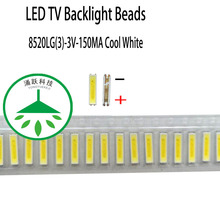 100pcs/lot new led 8520lg(3) 3v 150ma lamp beads cool white for repair led lcd tv backlight light bar chip hot 2pcs lot mst6m181vs lf z1 tv led lcd driver chip