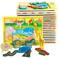 Cartoon 3d-puzzles tier transport obst hand puzzle kinder kinder frühkindliche lernspielzeug intelligenz kreatives spielzeug