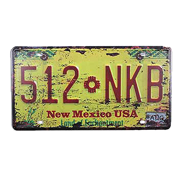 iron mural Metal license plate \