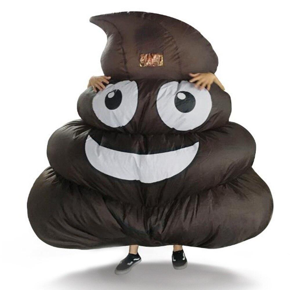 Gonflable géant caca Emoji Costume pour adultes enfants Halloween partie jeu taille unique ajustement la plupart de hauteur 150 cm jusqu'à