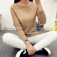 Women Winter Pullover 6 Colors Sweaters Women 2017 Hot Sale Winter O Neck Long Sleeve Pullovers