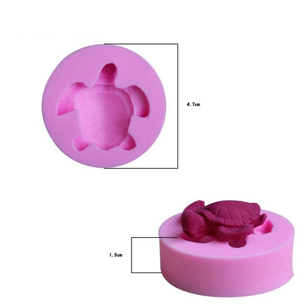 1 piece DIY Mini Cute 3D Silicone Fondant Mold Sea Turtle Cupcake Chocolate Soap Candle Moulds Craft Cake Decoration Tools 1PCS