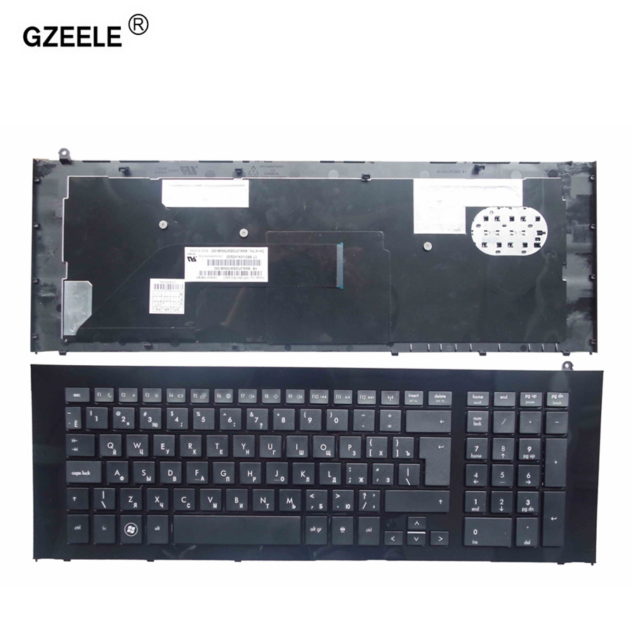 GZEELE Russian Laptop keyboard FOR HP ProBook 4720 4720S RU layout With Frame RU Black laptop keyboard 90.4GL07.S0R, V112130BS1 цена