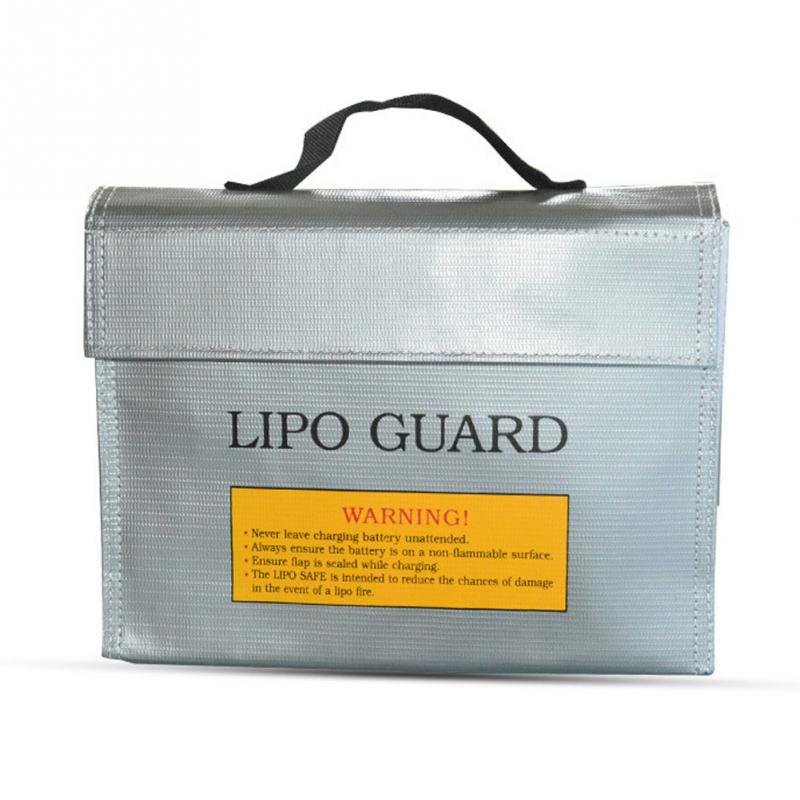 Imported Flame Retardant Materials LiPo Battery Charging Protection Explosion-proof Safe Guard Bag Large/Small Silver Black Red
