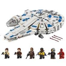 Star Wars Force Awakens Кессель Run тысячелетия модель «Сокол» Конструкторы кирпичи Совместимость Legoinglys 75212 05142 для рождественские подарки