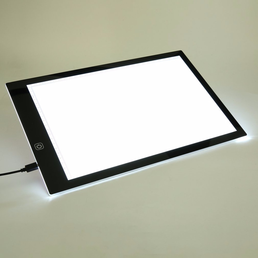 A4 Painting Drawing Board LED Drawing Board Art Stencil Copyboard With USB Cable Copy Table for Painting