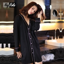 Hot sale horny 100% pure cotton long-sleeved nightshirts ladies easy informal sleepshirts for girls nightgowns girls nightdress