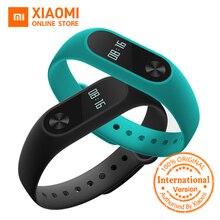 Глобальная версия Сяо Mi mi Группа 2 mi Группа 2 SmartBand oled-дисплей с тачпадом пульсометр Bluetooth 4.2 браслет для занятий спортом