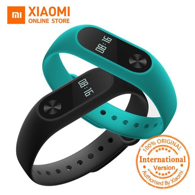 รุ่นทั่วโลกXiaomi Miวง2 miband 2 S Martband OLEDจอแสดงผลทัชแพดh eart rate monitorบลูทูธ4.2ติดตามการออกกำลังกาย