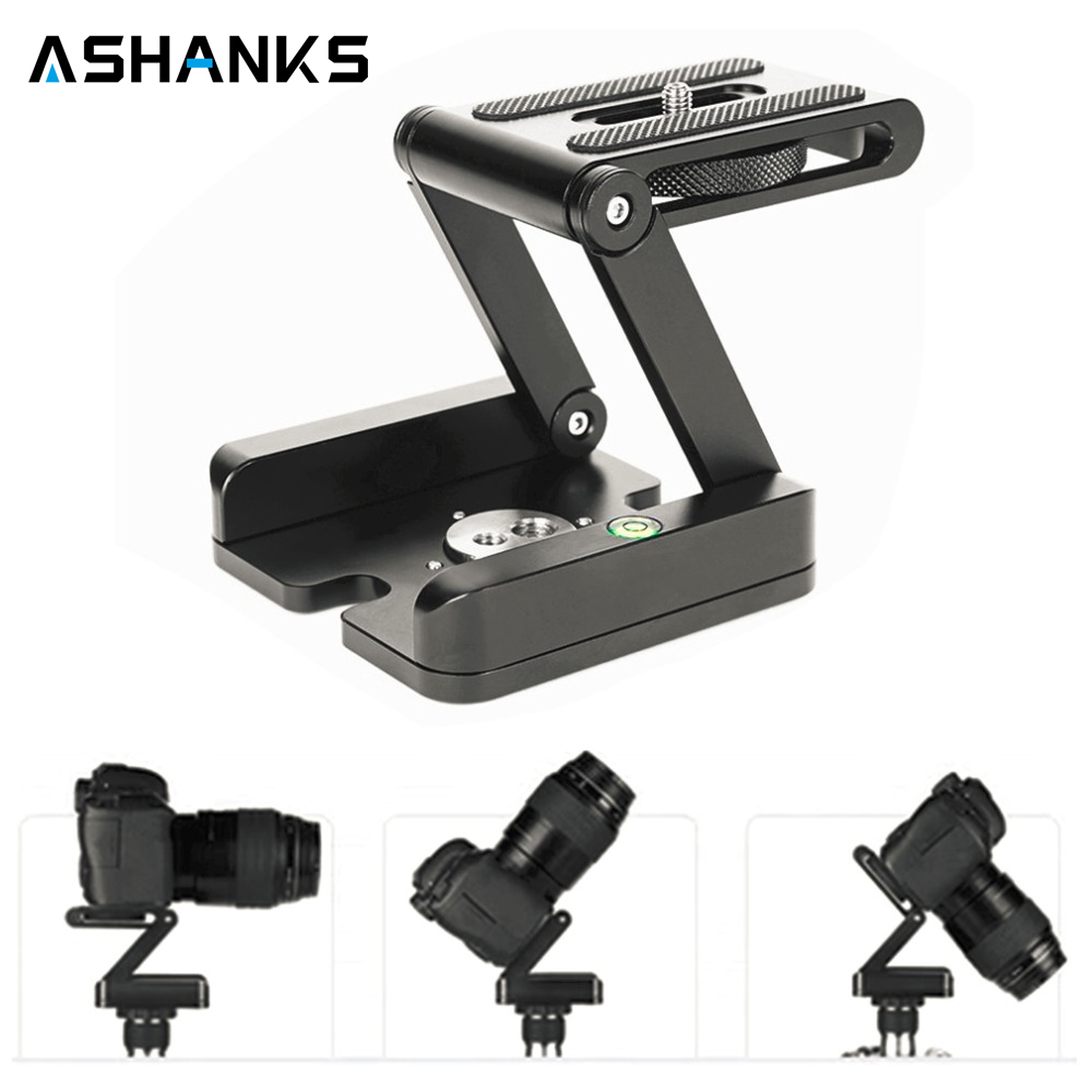 цена на Fold Z Type Stand Holder Adapter Tripod Flex Tilt Head Pan Quick Release Plate Ball Head Desktop for Photography Camera Studio