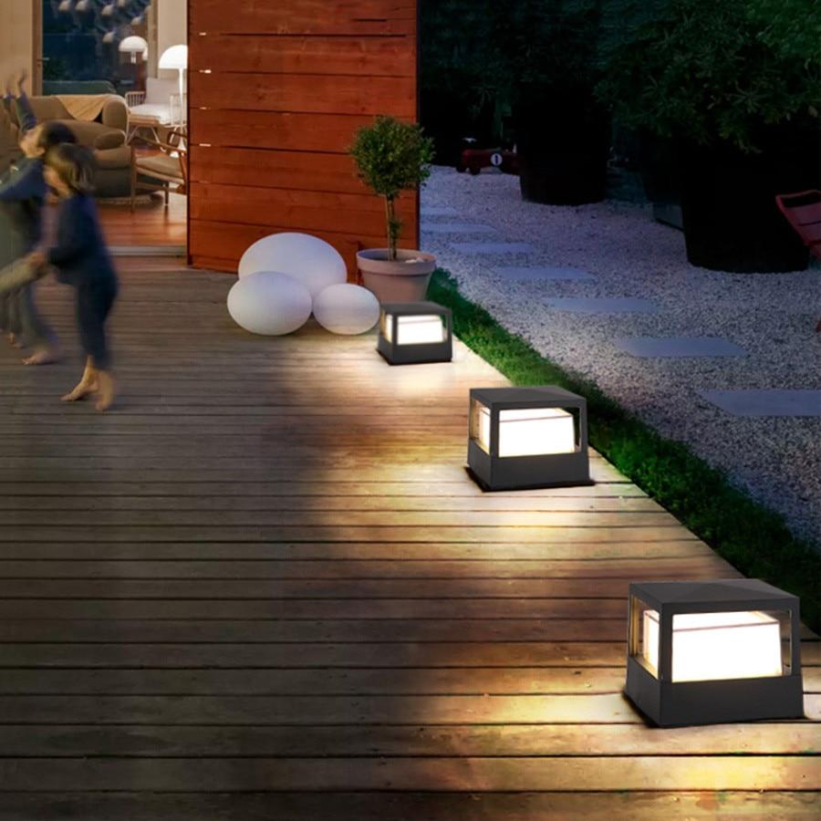 paisagem patio deck pos pilar villa luz caminho cerca pilar lampada 04