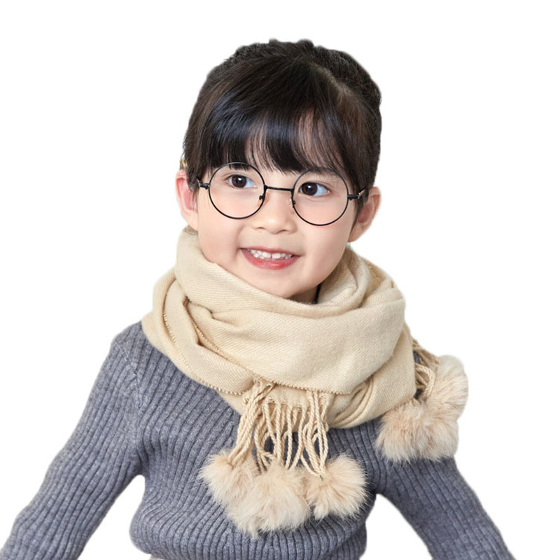 42a95003070f Intersection Shape Childrens Ring Warm Winter Scarf Cute 3D Cartoon ...