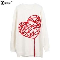 JOYDU Designer Brand Lady's Sweater 2018 New Novelty Love Embroidery Long Sleeve Knitted Sweaters Women Pullover Korean Jumper