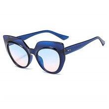 Солнцезащитные очки с квадратными линзами с негабаритных большой кадр Винтаж Для женщин Брендовая дизайнерская обувь класса люкс Новая Мода cat Eye UV400 FML