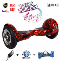 2 Wheel Self Balance Scooters 10 Inch Bluetooth Balancing Electric Scooter Hoverboard With Remote Smart Skateboard