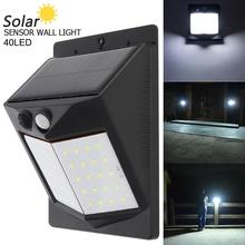 40 LED 400LM LED Solar Sensor Wall Light Bulb Outdoor Garden Lamp  Solar Motion Sensor Night Security Wall Light for Outdoor