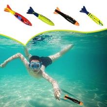 Дивин Торпедо ракета метание игрушки бассейн для дайвинга игра летняя торпеда грабитель ребенок подводный дайвинг палка Играть Вода игрушка 2 шт. Новинка