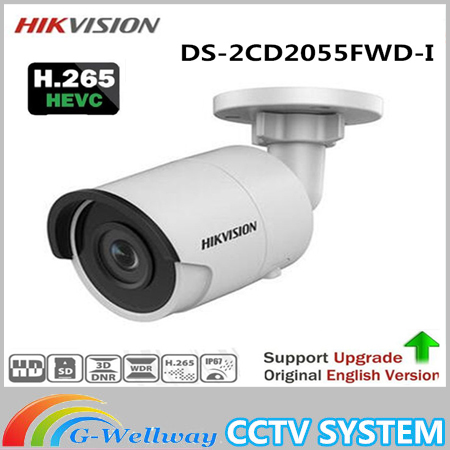 New english version DHL Free shipping DS-2CD2055FWD-I replace DS-2CD2055-I 5MP Network Bullet Camera Support on-board storage free shipping english version ds 2cd4a65f iz 6mp smart ip outdoor bullet network camera support 64g on board storage