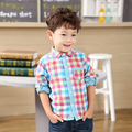 New Arrival Baby Boys Fashion Colorful Plaid Shirts Boys Spring Cotton Shirts Kids Long Sleeve Plaid Shirts
