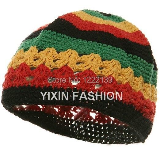 Fish Net Jamaican Reggae Handmade Crochet Beanie Knit Skull Cap Kufi