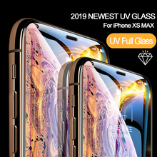Nano Liquid UV Glue Tempered Glass For iPhone XS MAX XR X Screen Protector Full Film 6 6S 7 8 Plus With Ligh +Glue
