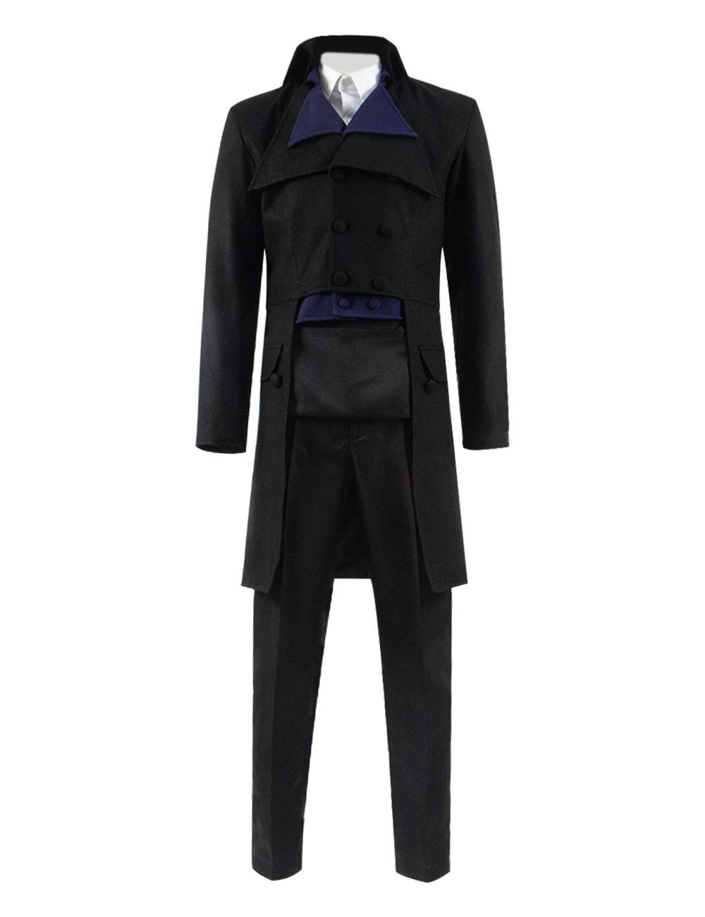Poldark Cosplay Costume Ross Poldark Suit Jacket Tuxedo Full Set Men's Party Show Dinner Suit