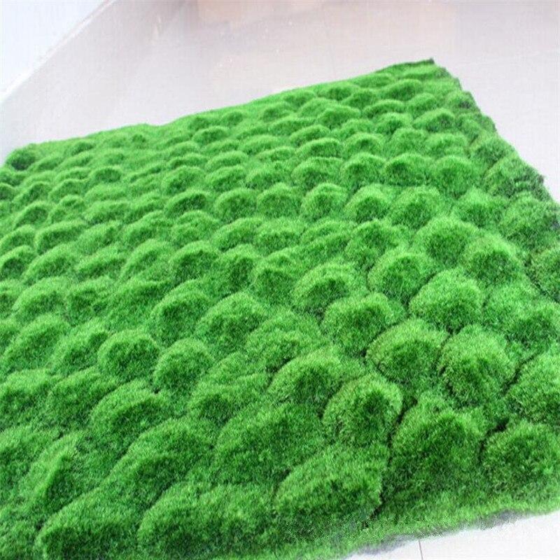 Flone Party artificiel faux plantes pelouse Simulation plante toile de fond mur mousse gazon vert gazon intérieur fenêtre décor maison plantes