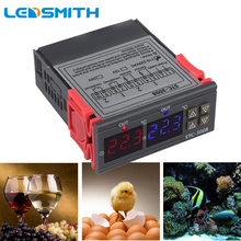 Dual Digital Thermostat Dual Temperature Controller For Incubator Relay LED 10A Heating Cooling STC-3008 12V 24V 220V стоимость