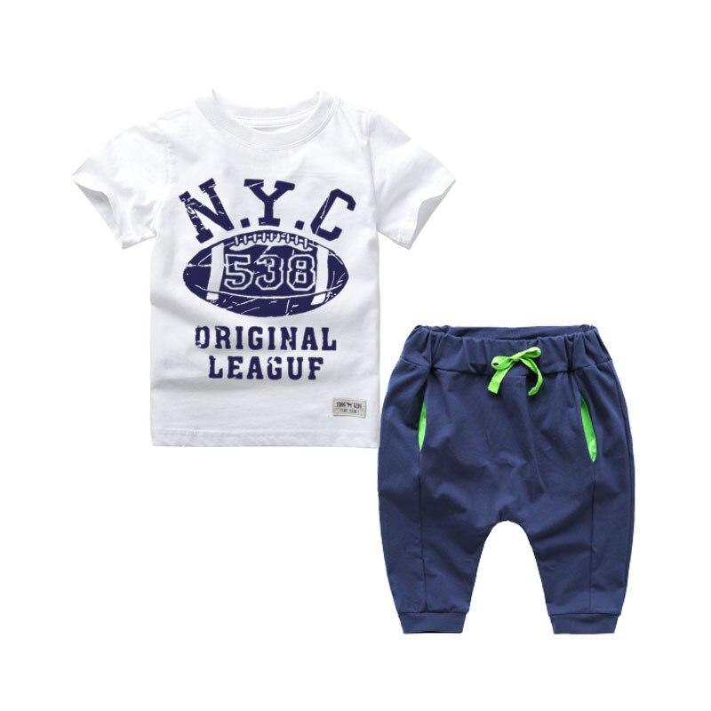 2017 New Kids Hip Hop Clothing Clothes Children Boys Cotton Clothing Sets Baby Costumes Vetement Enfant
