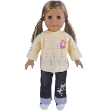 Handmade Sweater Jeans Doll Clothes For 18 American Girl