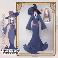Anime Little Witch Academy Sucy Manbavaran Dress Halloween Cosplay Little Witch Academia School Uniform Cosplay Sucy Costume wig