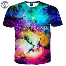 Mr.1991INC Горячий Продавать мужская майка 3d печати письма Я Мечтатель звезды облака с коротким рукавом повседневная футболка galaxy футболка B40