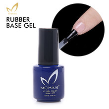 Rubber Base Coat Fast Dry Long Lasting Gel Varnish Nail Polish Comfortable UV Primer For Nail Art Design(China)