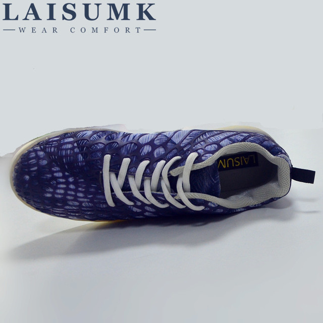 2019 LAISUMK Men Luminous Sneakers Lovers Shoes USB Charging Colorful A multi-sty Female Light Shoes Man LED Casual Shoes 3