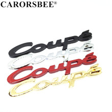 Car styling Emblem Badge 3D Chrome Metal COUPE Logo Car Sticker Decals for KIA Toyota Nissan Honda BMW Audi Hyundai Mazda opel dsycar 1 pair 3d metal turbo car sticker emblem badge for jeep bmw ford volvo nissan mazda audi vw honda toyota lada chevrolet