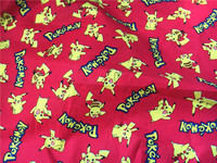 105 50cm Lovely Cartoon Pikachu Cotton Fabric Child Baby Boy Clothes Diy Handmade Craft Bedding Home