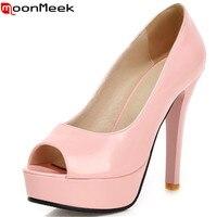 2015 New Fashion Peep Toe Green Nude Pink Women Pumps High Heels Prom Wedding Shoes Woman