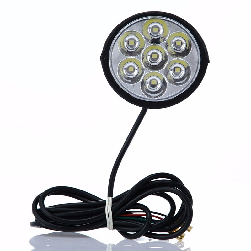 7LED Electric Bicycle Headlight Bike Light Scooter Lamp with Horn High Quality