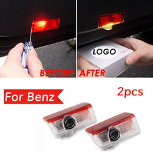 цена на 2X For Mercedes Benz AMG E W213 Led Car Door Logo Laser Projector Light emblem Welcome Ghost Shadow Warming Lamp Accessories