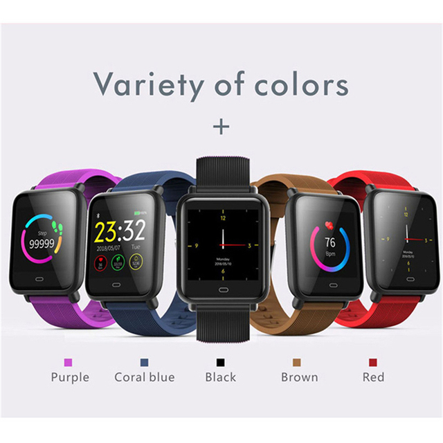 Smart Watch Q9 Blood Pressure Heart Rate Sleep Monitor Bracelet IP67 Waterproof Sport Fitness Trakcer Watch Men Women Smartwatch 3