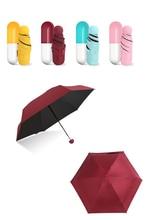 Mini Capsule Women Umbrella Clear Pocket Anti-UV Umbrella Windproof Folding Umbrellas Compact Rain Children Umbrellas