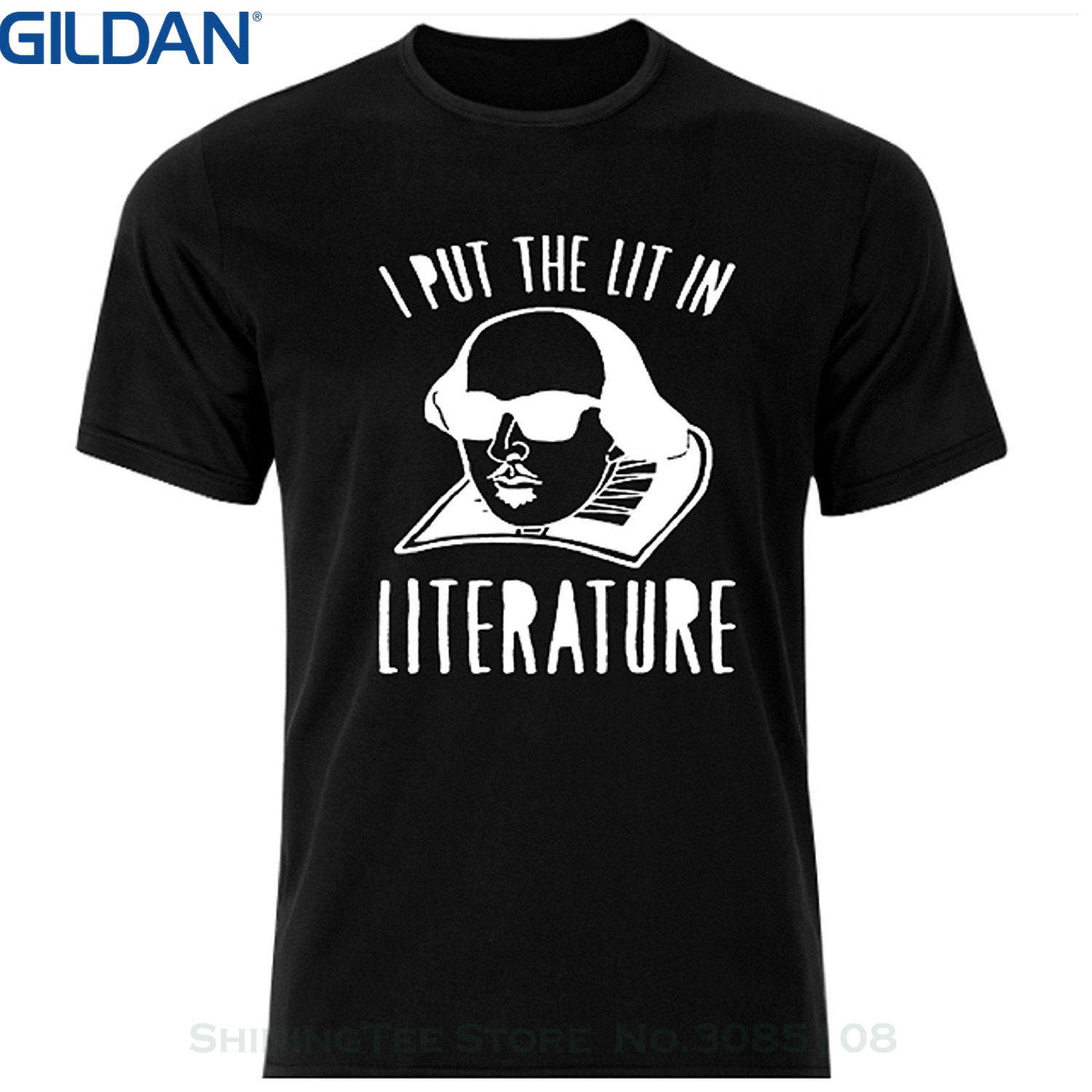 GILDAN Men 2017 Summer Round Neck Mens T Shirt I Put The Lit In Literature Super Mma Shop T Shirt Color Black