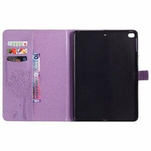 Image 3 - Für iPad Air 2 Fall Prägung Katze Unter Dem Baum Premium PU Leder Flip Brieftasche Stand Fall Karte Halter Abdeckung für iPad Air2 iPad 6