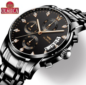 Image 1 - Mens Watches Top Brand Luxury OLMECA Clock Relogio Masculino 3ATM Waterproof Watches Chronograph Wristwatch Reloj Hombre for Men