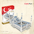 Cubcifun MC203h Mini Blue Mosque Famous Architecture Assembly DIY Puzzle 3D Toys, Christmas Gifts, Paper 3D Puzzle Toys For Kids