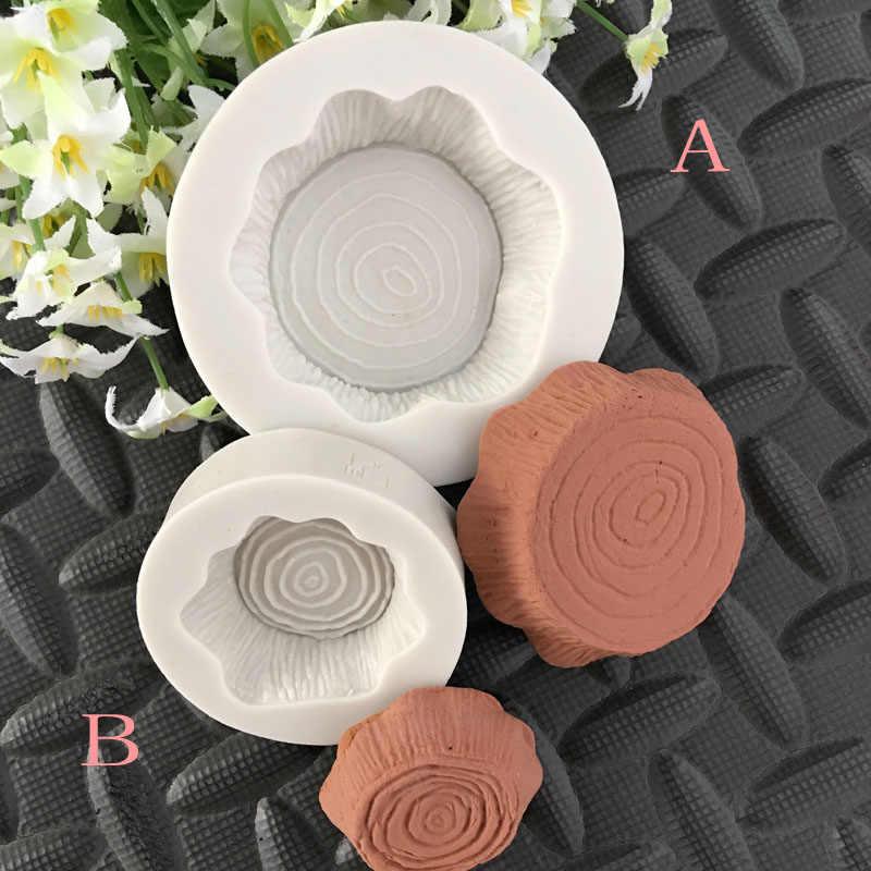 Nowe drewniane udziałów kształt silikonowe formy ciasto dekorowanie narzędzia fondant czekoladowy formy